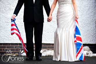 "Bethan & Casey – 26th January 2013 – Forest of Arden Hotel. ""A marriage made in America – a great week to be a Raven"""